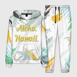 Костюм мужской Aloha Hawaii цвета 3D-белый — фото 1