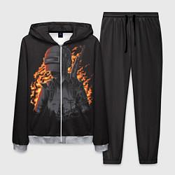 Костюм мужской PUBG: Flame Soldier цвета 3D-меланж — фото 1