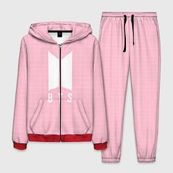 Костюм мужской BTS: Pink Grid цвета 3D-красный — фото 1