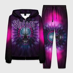 Костюм мужской Slipknot: Neon Skull цвета 3D-черный — фото 1