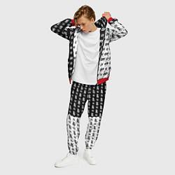 Костюм мужской Off-White: Black & White цвета 3D-красный — фото 2