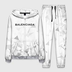 Костюм мужской Balenciaga: White Style цвета 3D-меланж — фото 1
