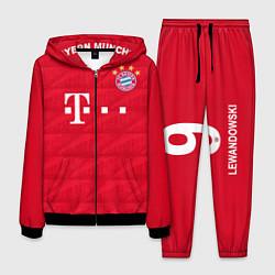 Костюм мужской FC Bayern: Lewandowski Home 19-20 цвета 3D-черный — фото 1