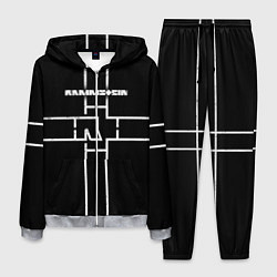 Костюм мужской Rammstein: Black Cross цвета 3D-меланж — фото 1