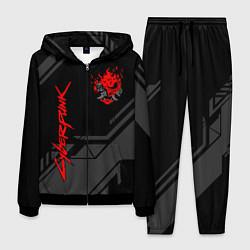 Костюм мужской Cyberpunk 2077: Grey Samurai цвета 3D-черный — фото 1