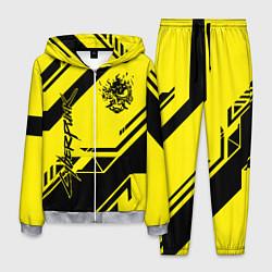 Костюм мужской Cyberpunk 2077: Yellow Samurai цвета 3D-меланж — фото 1