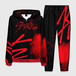 Костюм мужской Stray Kids цвета 3D-красный — фото 1