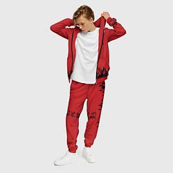 Костюм мужской HOKAGE NARUTOна спине цвета 3D-красный — фото 2