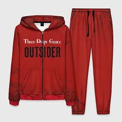Костюм мужской Three days grace Outsider цвета 3D-красный — фото 1