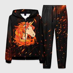 Костюм мужской Огненный единорог цвета 3D-черный — фото 1