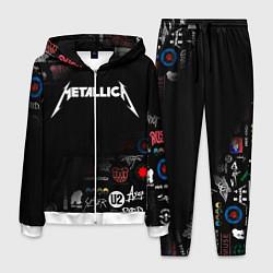 Костюм мужской Metallica цвета 3D-белый — фото 1
