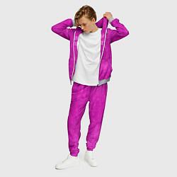 Костюм мужской Мой цвет фиолетовый цвета 3D-меланж — фото 2
