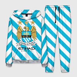 Костюм мужской Манчестер Сити цвета 3D-меланж — фото 1