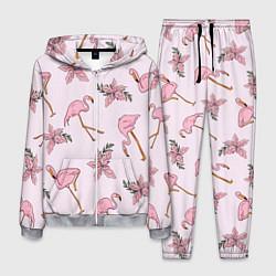Костюм мужской Розовый фламинго цвета 3D-меланж — фото 1