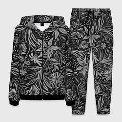 Костюм мужской Флора Черно Белая цвета 3D-черный — фото 1