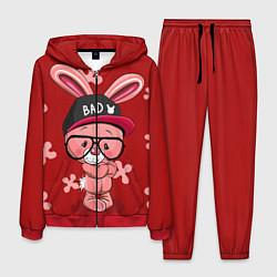 Костюм мужской Модный зайка цвета 3D-красный — фото 1