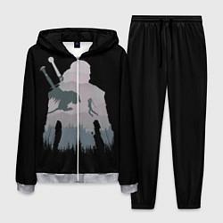 Костюм мужской The Witcher цвета 3D-меланж — фото 1