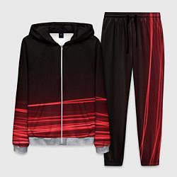 Костюм мужской Красное и Черное цвета 3D-меланж — фото 1