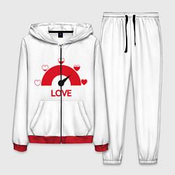 Костюм мужской LOVE цвета 3D-красный — фото 1