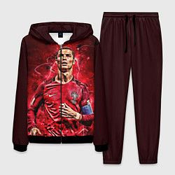 Костюм мужской Cristiano Ronaldo Portugal цвета 3D-черный — фото 1