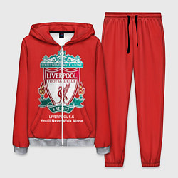Костюм мужской Liverpool цвета 3D-меланж — фото 1
