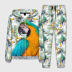 Костюм мужской Летний попугай цвета 3D-меланж — фото 1