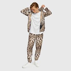 Костюм мужской Взгляд леопарда цвета 3D-белый — фото 2