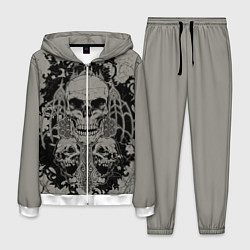 Костюм мужской Skulls цвета 3D-белый — фото 1