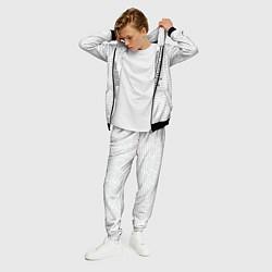 Костюм мужской Облако тегов: белый цвета 3D-черный — фото 2