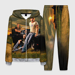 Костюм мужской Nickelback Group цвета 3D-меланж — фото 1