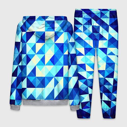 Мужской костюм Синяя геометрия / 3D-Меланж – фото 2