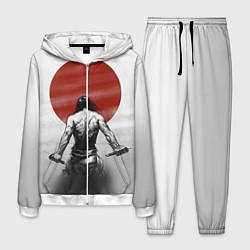 Костюм мужской Ярость самурая цвета 3D-белый — фото 1