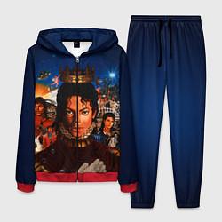 Костюм мужской Michael Jackson: Pop King цвета 3D-красный — фото 1