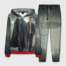 Костюм мужской Шерлок и Доктор цвета 3D-красный — фото 1