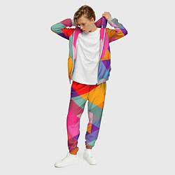 Костюм мужской Разноцветные полигоны цвета 3D-меланж — фото 2