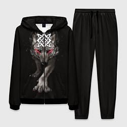 Костюм мужской Волк со Сварогом цвета 3D-черный — фото 1