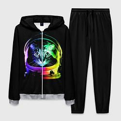 Костюм мужской Кот космонавт цвета 3D-меланж — фото 1