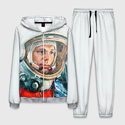 Костюм мужской Гагарин в полете цвета 3D-меланж — фото 1