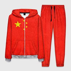 Костюм мужской Китай цвета 3D-меланж — фото 1