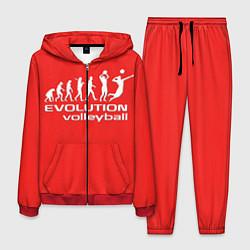 Костюм мужской Волейбол 23 цвета 3D-красный — фото 1
