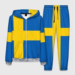 Костюм мужской Швеция цвета 3D-меланж — фото 1