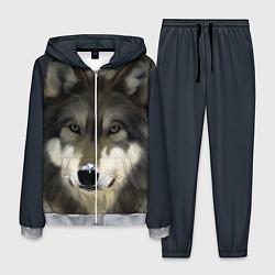 Костюм мужской Зимний волк цвета 3D-меланж — фото 1
