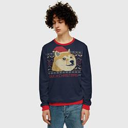 Свитшот мужской Doge Such Christmas цвета 3D-красный — фото 2