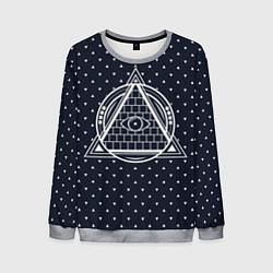 Свитшот мужской Illuminati цвета 3D-меланж — фото 1