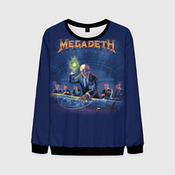 Свитшот мужской Megadeth: Rust In Peace цвета 3D-черный — фото 1
