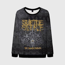 Свитшот мужской Suicide Silence: The Black Crown цвета 3D-черный — фото 1