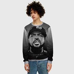 Свитшот мужской Ice Cube: Gangsta цвета 3D-меланж — фото 2