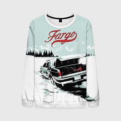Свитшот мужской Fargo Car цвета 3D-белый — фото 1