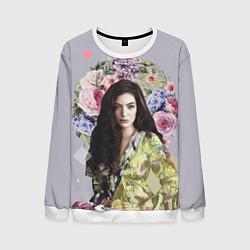 Свитшот мужской Lorde Floral цвета 3D-белый — фото 1