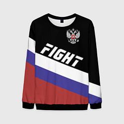 Свитшот мужской Fight Russia цвета 3D-черный — фото 1